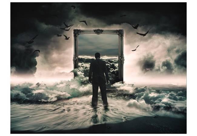 Fototapeta - A walk in the clouds