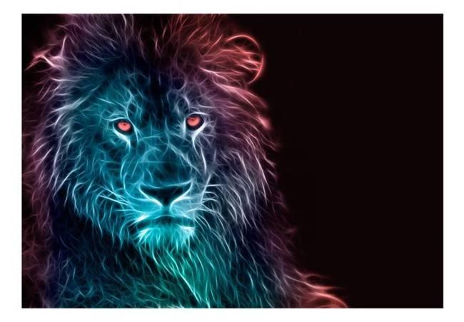 Fototapeta - Abstrakcyjny lew - tęcza