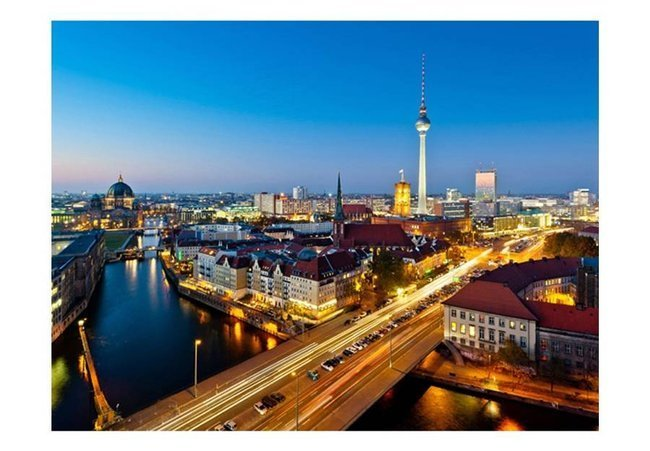 Fototapeta - Berlin view from Fischerinsel (night)