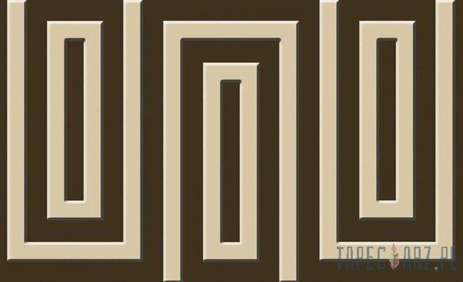 Fototapeta Brązowo-beżowy wzór geometryczny 863