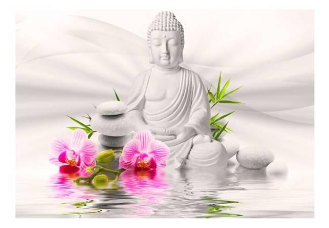 Fototapeta - Budda i orchidee