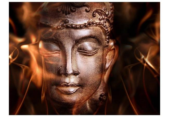 Fototapeta - Buddha. Fire of meditation.
