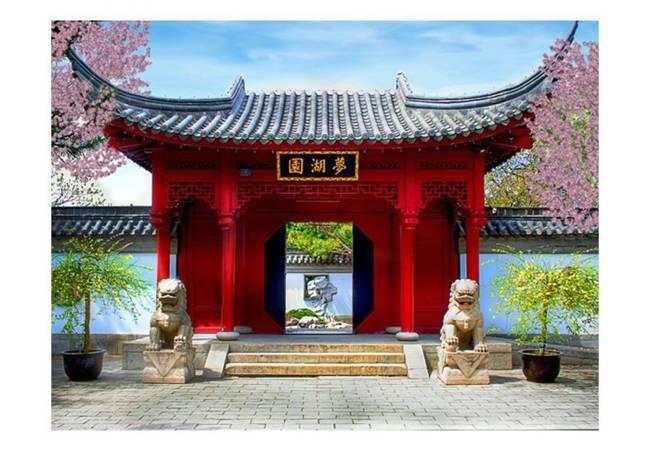 Fototapeta - Chinese botanical garden of Montreal (Quebec Canada)