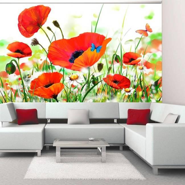 Fototapeta - Country poppies