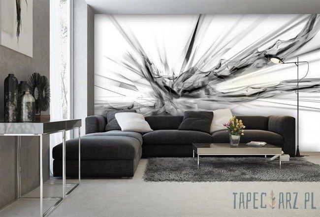 Fototapeta Czarno-biała abstrakcja 3540