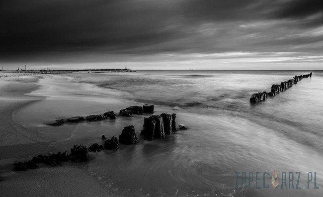 Fototapeta Czarno-biała plaża 1029