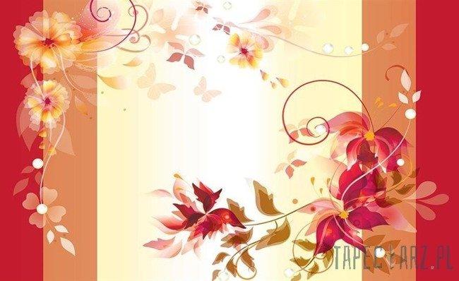 Fototapeta Czerwony motyw kwiatowy 1162