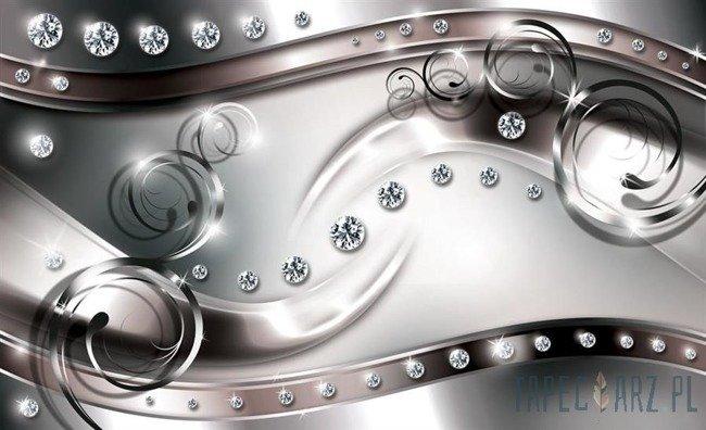 Fototapeta Diamentowa abstrakcja - srebrny wzór 2272