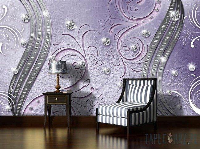 Fototapeta Diamentowy wzór na fioletowym tle 2012