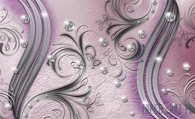 Fototapeta Diamenty różowy wzór 2047