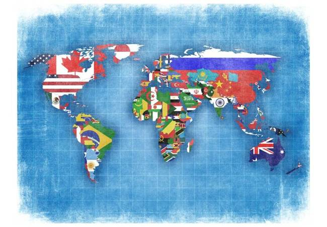 Fototapeta - Flags of countries