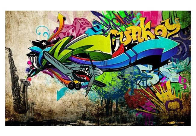 Fototapeta - Funky - graffiti