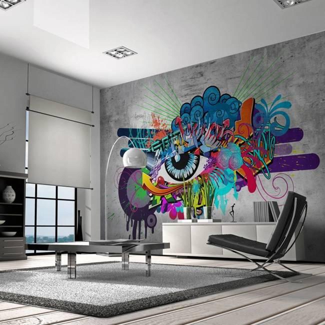 Fototapeta - Graffiti eye