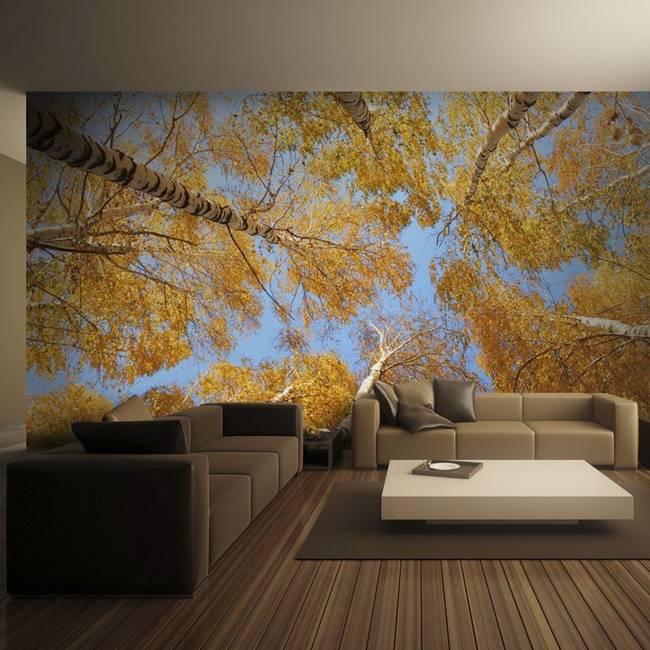 Fototapeta - Jesienne korony drzew