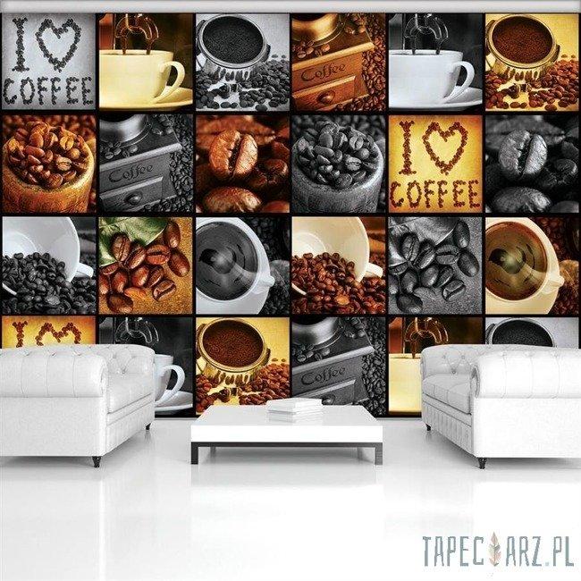 Fototapeta Kawowy kolaż I Love Coffee 3460