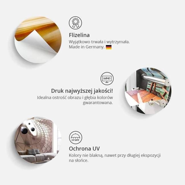 Fototapeta - Kolibry na fali (brązowy)