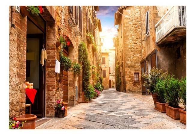 Fototapeta - Kolorowa uliczka w Toskanii