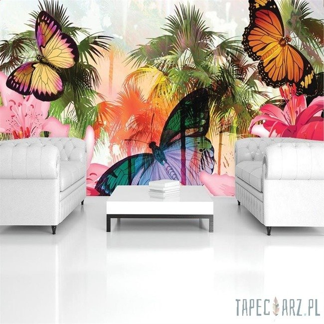 Fototapeta Kolorowe motylki 405