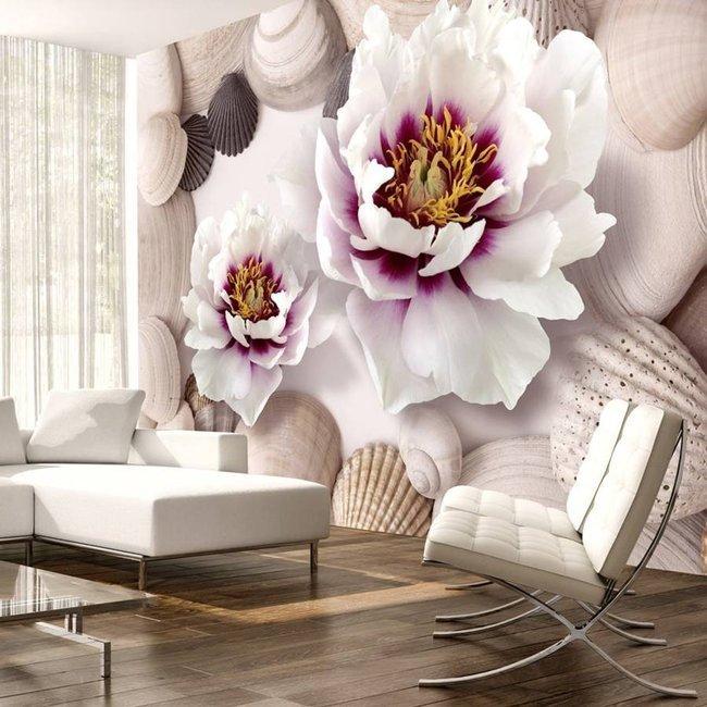 Fototapeta - Kwiaty i muszle