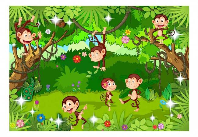 Fototapeta - Małpie sztuczki