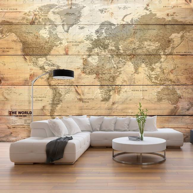 Fototapeta - Mapa na deskach