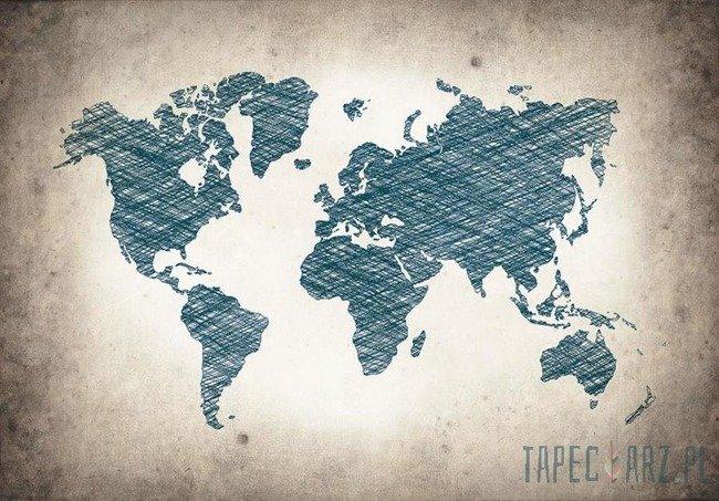 Fototapeta Młodzieżowa mapa świata 10010