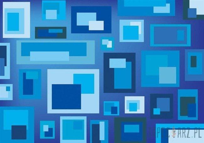 Fototapeta Niebieskie prostokąty 3739
