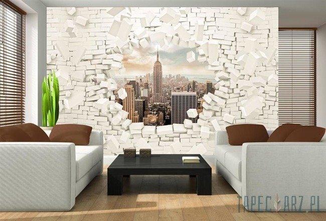 Fototapeta Nowy Jork wychodzący ze ściany 3d 2720