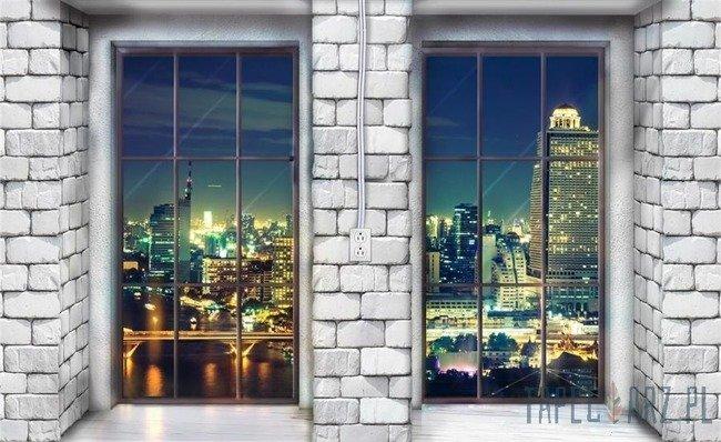 Fototapeta Okna na nocne miasto 12983