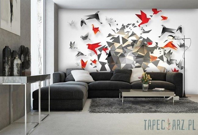 Fototapeta Origami - abstrakcja 2211