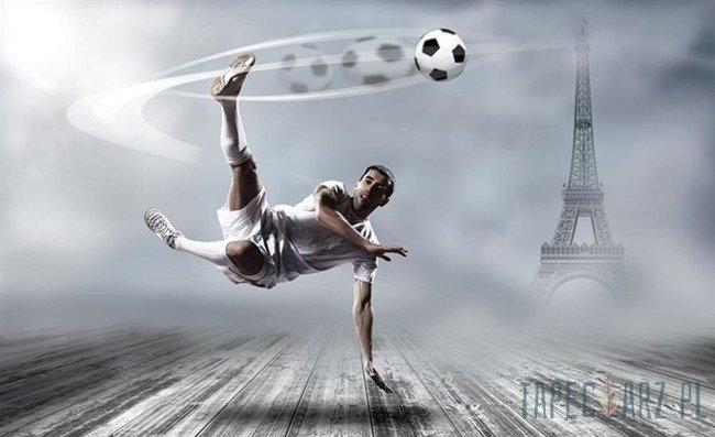 Fototapeta Piłkarz i Wieża Eiffla 2255