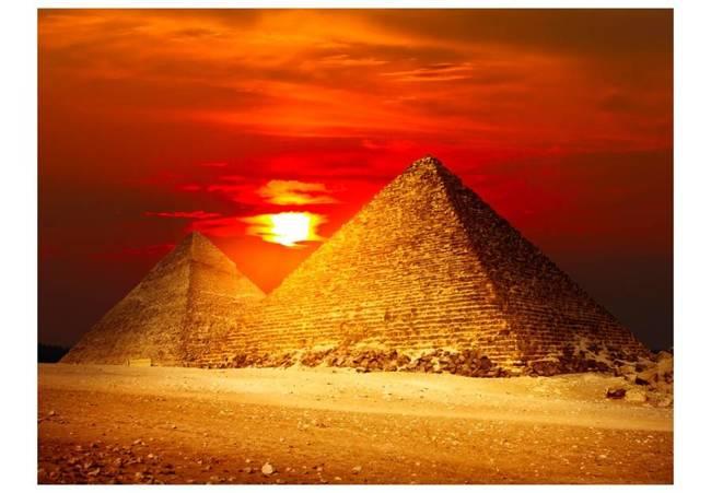 Fototapeta - Piramidy w Gizie - zachód słońca