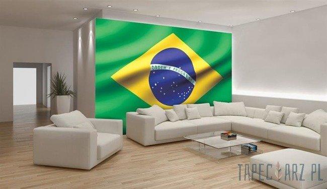 Fototapeta Powiewająca flaga Brazylii 487