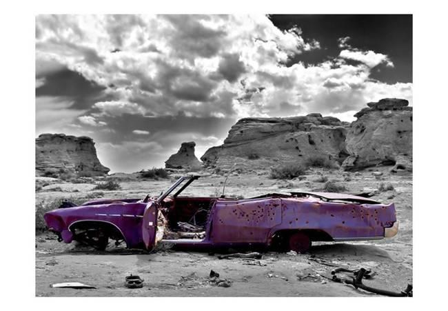 Fototapeta - Samochód w stylu retro na Pustyni Kolorado