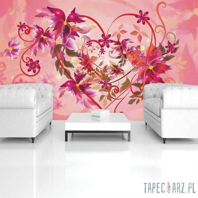 Fototapeta Serce z kwiatów 520