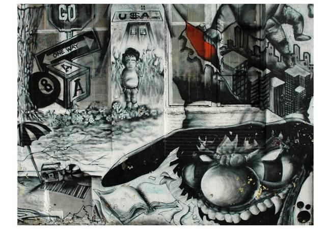 Fototapeta - Street art graffiti