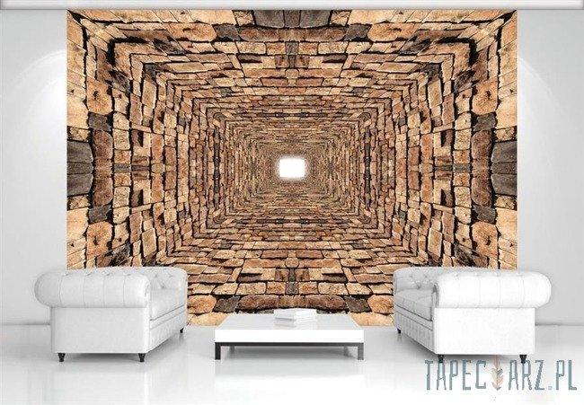 Fototapeta Tunel z kamieni 3D 2907