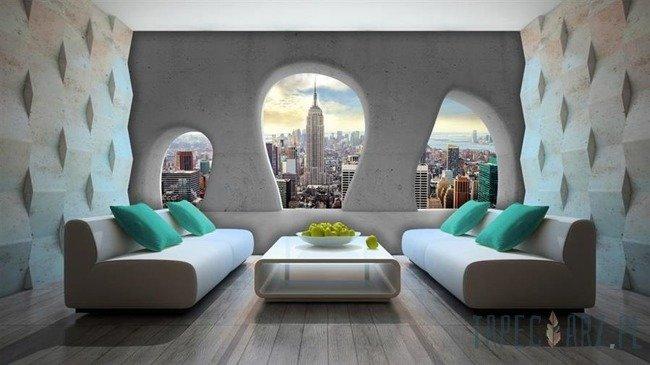 Fototapeta Widok na Nowy Jork przez okna 2813