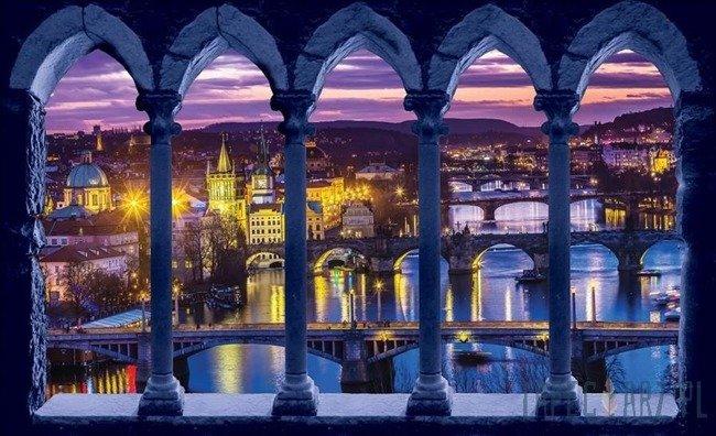 Fototapeta Widok na Pragę wieczorem 3371