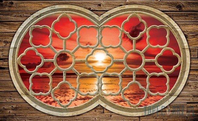 Fototapeta Widok na zachód słońca nad morzem 2061