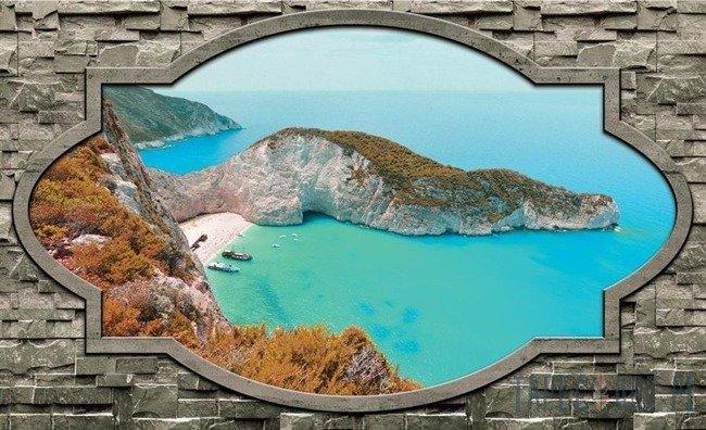 Fototapeta Widok na zatokę Wraku (Zakynthos) 3484