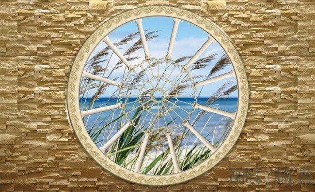 Fototapeta Widok przez okno na plażę 2089