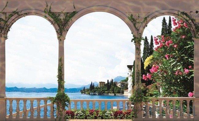 Fototapeta Widok z tarasu na jezioro Como 1073