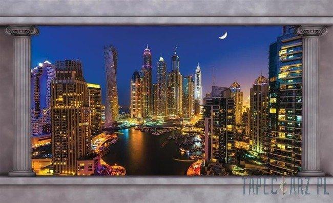 Fototapeta Wieżowce Dubaju nocą 2870