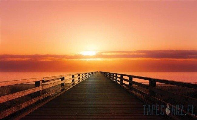 Fototapeta Zachód słońca - pomost 3466