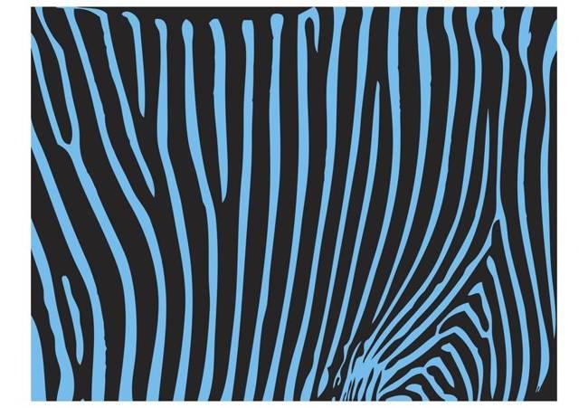 Fototapeta - Zebra pattern (turkus)