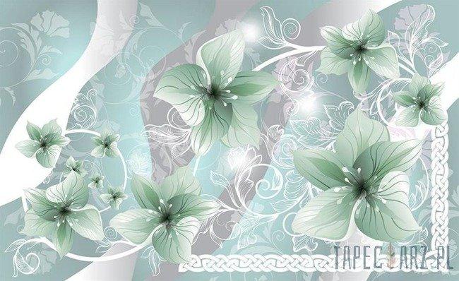 Fototapeta Zielone kwiaty 1239