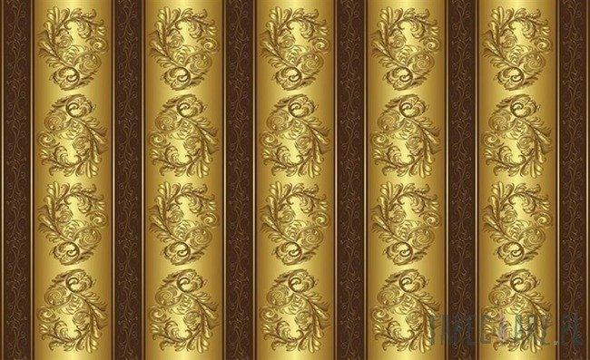 Fototapeta Złoto-brązowy motyw zdobniczy 2087