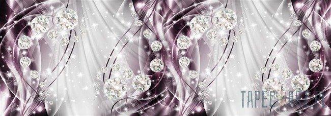 Fototapeta na flizelinie Abstrakcja, diamenty, srebro i purpura 10404VEE