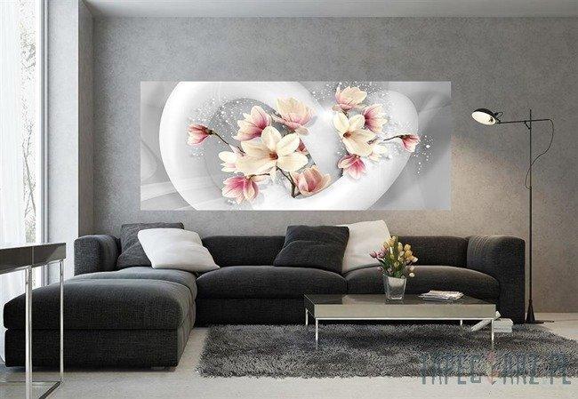 Fototapeta na flizelinie Biało-różowe kwiaty 3375VEP